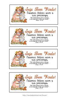 Pequeninos de Jesus: Cartões de Boas Vindas!