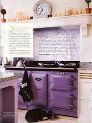 Calluna doesn't need to be your feature colour: why not offset mauve shades with a 'statement' cooker in a rich purple? This AGA finishes the pictured kitchen beautifully. Purple Home, Aga Kitchen, Kitchen Decor, Kitchen Ideas, Aga Stove, Purple Kitchen, Cottage Kitchens, Dream Kitchens, All Things Purple