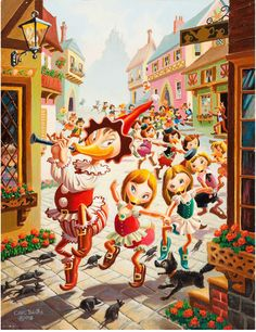 The Pied Piper (1978). Painting by Carl Barks.