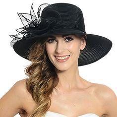 Women Organza Floral Wide Brim Church Kentucky Derby Sun Hat S052 (Black) Fanny http://www.amazon.com/dp/B00VQGFD36/ref=cm_sw_r_pi_dp_LJ27wb1BGEY82