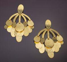 Herve Van Der Straeten Oversized Clip Earrings