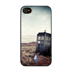 Licensed iPhone 4 / 4s Hard Case Cover - Doctor Who: Tardis In Nevada. $23.00, via Etsy.