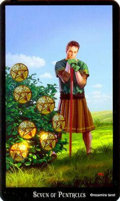 7 d'écus - Tarot sorcières par Ellen Dugan & Mark Evans