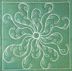 The Free Motion Quilting Project: Day 266 - Sea Oat Flower