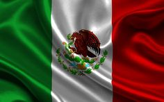 Mexican flag, 4k, silk, flag of Mexico, flags, Mexico flag
