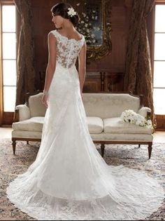 #Lace Back Wedding Dress