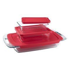 Pyrex Easy Grab 6 Piece Glass Bakeware Food Storage Set Baking Set Baking Pan #Pyrex #ChristmasForAllTheLadies #TrustedForGenerations