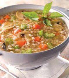 Sopa de verduras con cebada perla - Prepara una sopa deliciosa y súper nutritiva para apapachar al cuerpo.