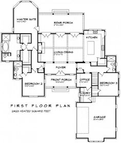 #656061 - Beautiful 3 bedroom 3 bath French plan with open floor plan and bonus room : House Plans, Floor Plans, Home Plans, Plan It at HousePlanIt.com