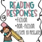 Reading Responses Subject: Balanced Literacy, Writing, Reading Strategies Level(s): Pre-K, Kindergarten, First, Second, Third, Fourth, Homeschooler