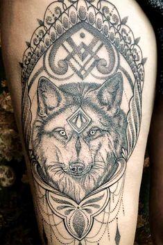 Wolf tattoos - 27 Inspiring Wolf Tattoo Ideas For Your Skin – Wolf tattoos Wolf Tattoo Design, Mandala Tattoo Design, Tattoo Designs, Tattoo Ideas, Wolf Tattoos, Animal Tattoos, Photo Canvas, Canvas Photos, Geometric Symbols