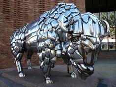junk car sculpture. Colorado