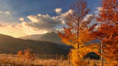 Jesenné ráno Autumn Morning, Marvel, Celestial, Mountains, Sunset, Landscape, December 2013, Nature, Outdoor