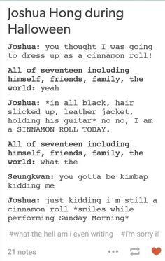 I'm expecting Joshua to do this for the next Halloween
