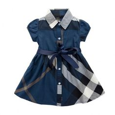 * Plaid pattern<br /> * Note: adopting unfixed printing crafts, so the placements of the pattern may vary<br /> * Ribbon tie at waist<br /> * Button closure<br /> * Material: 90% Cotton, 10% Polyester<br /> * Machine wash, tumble dry<br /> * Imported<br /> <br /> Playful plaid offers country-inspired style to this dress, and a tie at waist to keep your little one looking sweet as can be. Button closure at ...