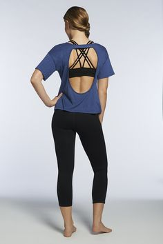 Add some sexy to your look with the open-back Key Tee.