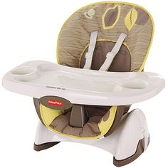 The Snugabear Fisher-Price SpaceSaver High Chair is designed to provide a full-size feeding experience for a small size home. The Fisher-Price Baby High Chair has all of the features of a full-size high chair without taking up the space. This Fisher-Price Baby High Chair has three height adjustments, three-position recline plus a full-size, one-hand removable, dishwasher-safe tray. The seat pad is wipeable and machine washable with a five-point t >>> To view further for this item, visit the…