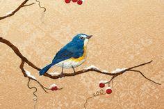 鳥 #japan #traditional #embroidery #bird