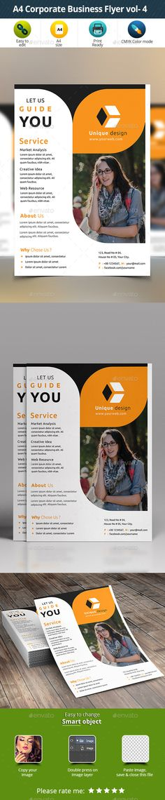 A4 Corporate Business Flyer vol- 4