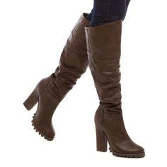 New Ladies Womens Christmas Over The Knee Thigh High High Heel Boots Shoes 6-11 #LeiliaStone #FashionKneeHigh