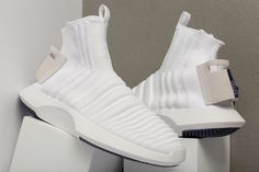 adidas Crazy 1 ADV Sock Primeknit Triple White
