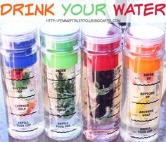 Drink you water daily - enough said.  Make sure you do it with these cute Infusion Water Bottles with Drink Tracker.