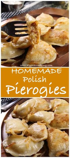 Homemade Polish Pierogies Recipe (Freezer Friendly) - - This Polish pierogies recipe came from a grandma my sister-in-law took care of. These are authentic as can be coming from a Polish lady herself! Fill them with mashed potatoes or sour kraut! Pierogies Homemade, Cheese Pierogi Recipe, Polish Pierogi Dough Recipe, Ukrainian Recipes, Czech Recipes, Biscotti, Pasta, Gourmet, Recipes