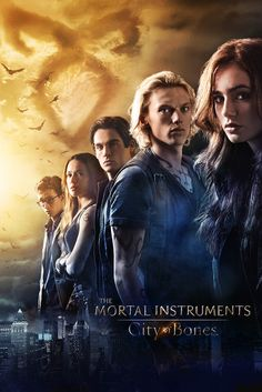 Mortal Instruments #Movie #Poster - Lily Collins, Jamie Campbell Bower, Robert Sheehan, Kevin Zegers, Lena Headey, Kevin Durand, Aidan Turner