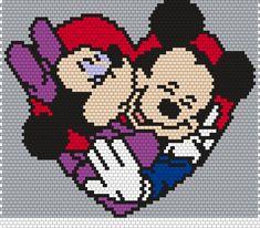 Minnie And Mickey (Peyote) Bead Pattern