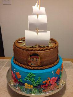 Jake and the Neverland  Pirate cake