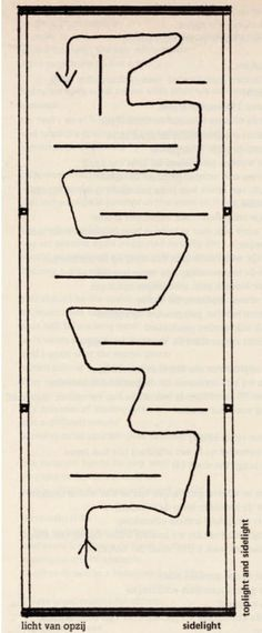 Willem Sandberg, Schematic floor plan of new museum wing, 1954.