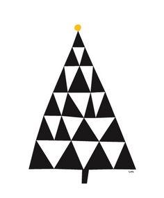 Love this simple geometric tree design #design #illustration #shape
