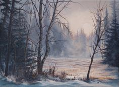 This painting is sold. My Arts, Snow, Painting, Outdoor, Paint, Outdoor Games, Draw, The Great Outdoors, Garden