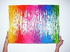 Canvas Encaustic by MeltingColorsStudio, $95.00