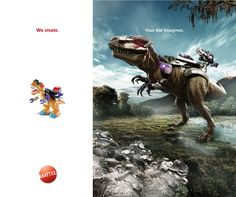 Mattel: We create. Your kid imagines. Clever Advertising, Advertising Poster, Advertising Campaign, Grand Prix, Unique Poster, Great Ads, Kids Prints, Marketing, Work Inspiration