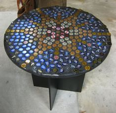 ToolGirl Mag Ruffman: Beer Bottle Cap Table