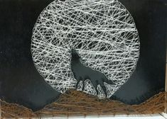 String art wolf!                                                                                                                                                                                 More