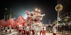 Performers display a dragon dance during a Chinese New Year parade in Hong Kong Philippe Lopez/AFP/Getty Images Chinese New Year Parade, Happy Chinese New Year, Dragon Dance, Beautiful Dragon, Year Of The Horse, Google Doodles, Asian History, Thinking Day, Lunar New