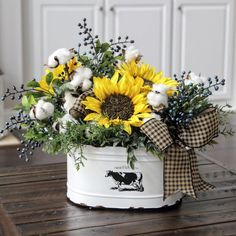 Sweet Sunflowers . Add a little Farmhouse Country to your home!!