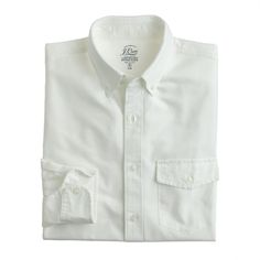 Slim lightweight vintage oxford cloth shirt in solid : oxford | J.Crew