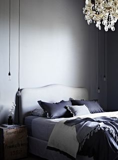 dark and feminine bedroom