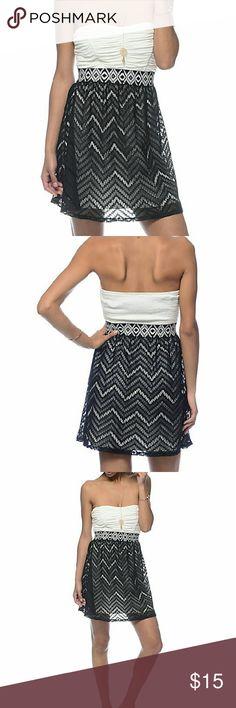 Chevron Tube Dress Brand new with tags. Lunachix  Dresses Strapless