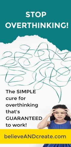 If overthinking is an issue for you, click thru and read all about how to kick the habit to find greater peace and happiness . and a whole lot less stress . in your life. Self Development, Personal Development, Dating Coach, Feminine Energy, Transform Your Life, Love Your Life, Self Improvement, Self Help, Mental Health