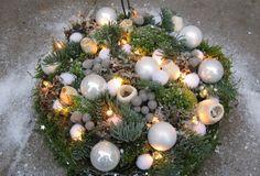 """kersttaart """"Bij Aafke"""" www.bloemworkshops.nl"""