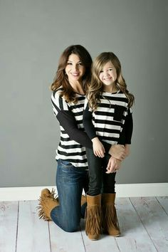 3a7aa0dfef Mommy and Me Relaxing in Stripes Black - Ryleigh Rue Clothing by Modern  Vintage Boutique