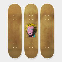 Andy Warhol: Skateboard Triptych Gold Marilyn Monroe | MoMAstore.org