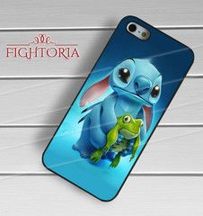 Stitch With A Frog -tr3 for iPhone 6S case, iPhone 5s case, iPhone 6 case, iPhone 4S, Samsung S6 Edge