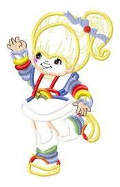 Rainbow Girl Applique Embroidery Design