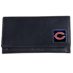 NFL Leather Wallet Women's - Chicago Bears  http://allstarsportsfan.com/product/nfl-leather-wallet-womens/?attribute_pa_teamname=chicago-bears  Officially Licensed High Quality Napa Grain Leather Enameled Team Logo