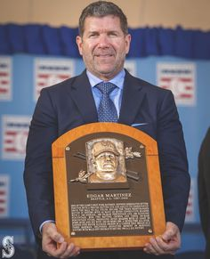 Seattle Mariners: We've got another reason to come to Edgar Martinez Hall of Fame Weekend. Mariners Baseball, Seattle Mariners, Buster Posey, Yadier Molina, Fenway Park, Travel Humor, Derek Jeter, Oakland Athletics, Milwaukee Brewers